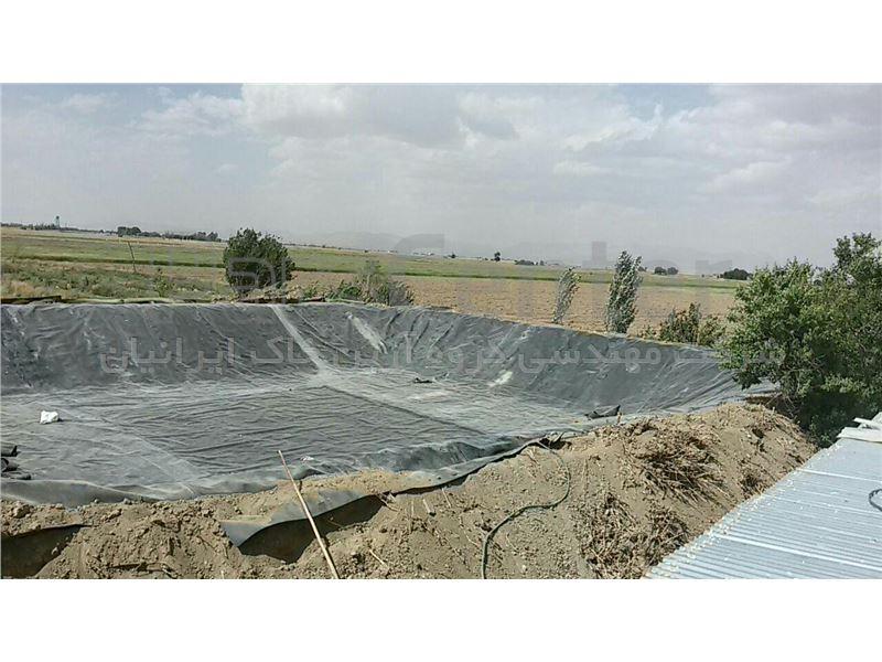 ساخت استخر کشاورزی با ورق ژئوممبران در ابعاد و اشکال متنوع، ایوانکی