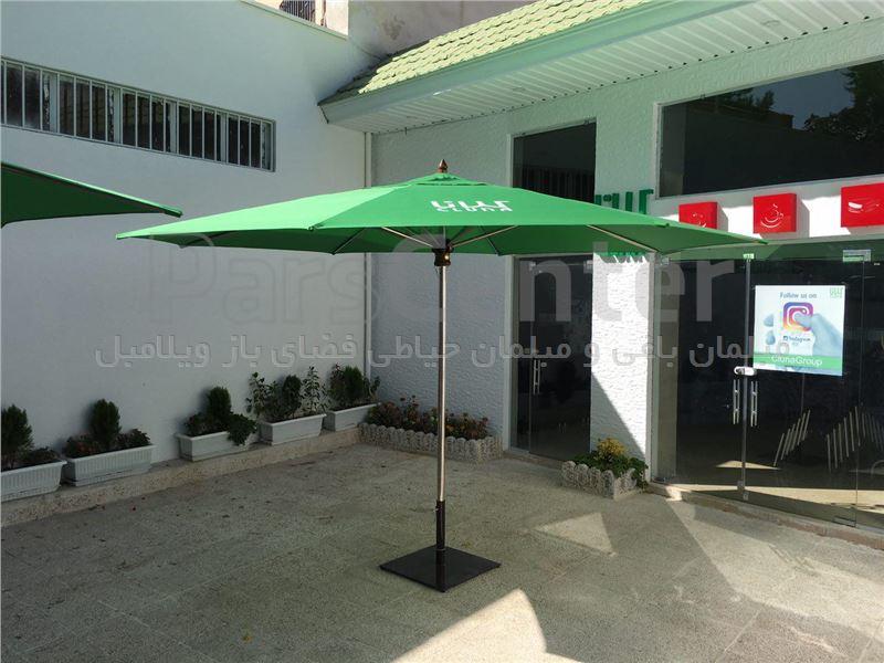 چتر سایه بان ویلاباغ و روف گارن 4 متر استیل