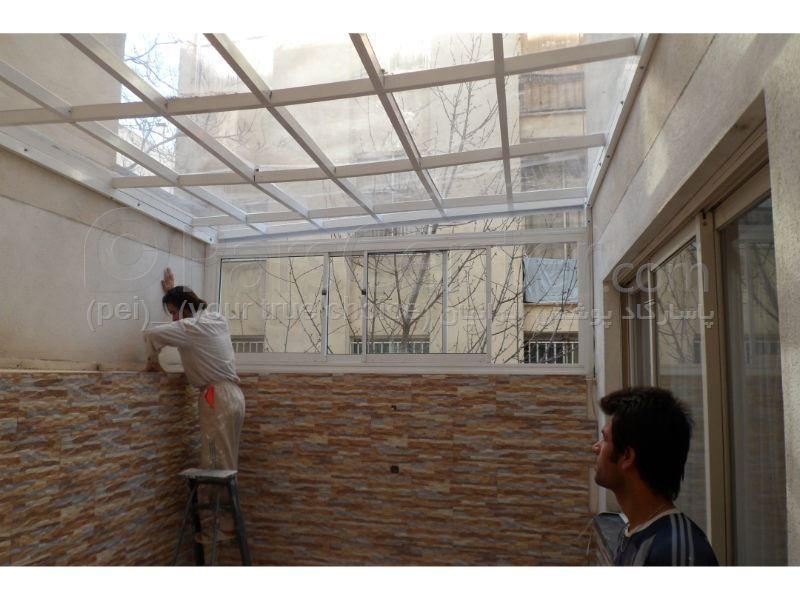 Patio Roof) سقف پاسیو (تمام شیشه ای ) 288 - محصولات سازه های پیش ...(Patio Roof) سقف پاسیو (تمام شیشه ای ) 288 ...