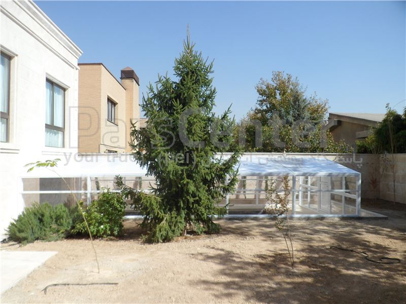 پوشش ثابت سقف و سالن استخر - شهرک غرب