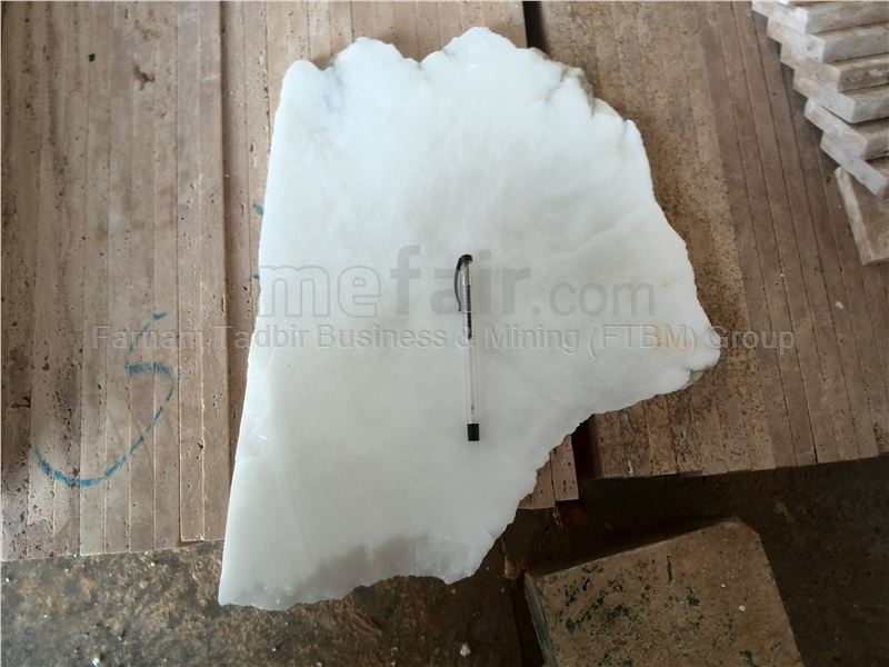 Iran White Alabaster Block