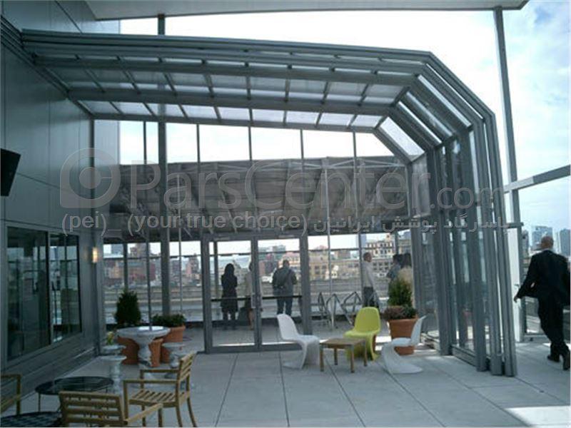 سیستم پوشش سقف متحرک رستوران مدل ال 5   The restaurant El movable roof system