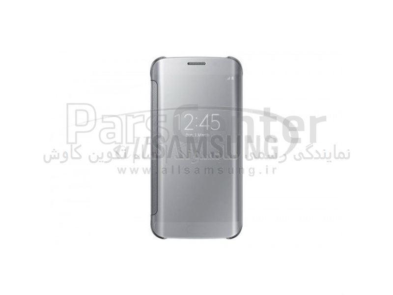 Samsung Galaxy S6 Edge Clear View Cover Silver کاور نقره ای گلکسی اس 6 اج سامسونگ
