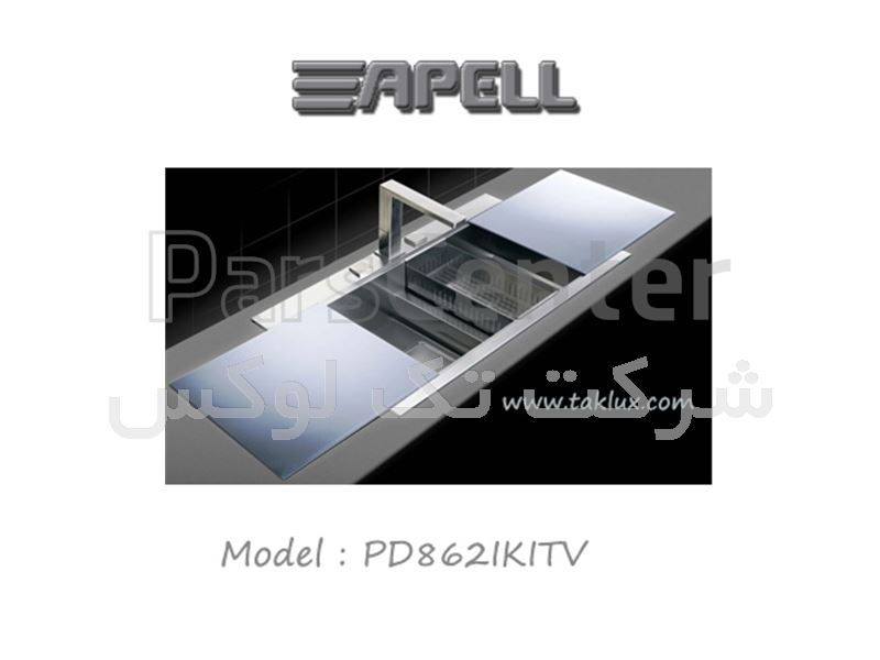سینک استیل دو لگنه اپل   مدل   PD862IKITV