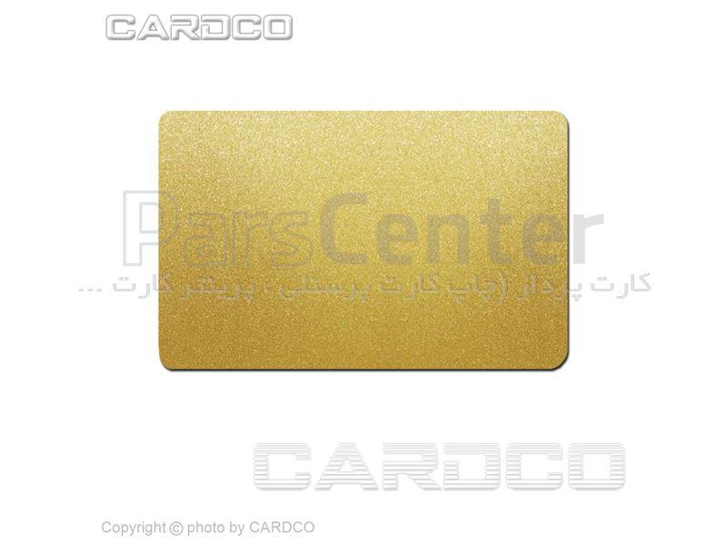 کارت پی وی سی سفید خام طلایی