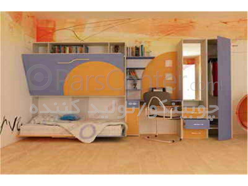 تخت تاشوی دو طبقه کمجای چوبینکو