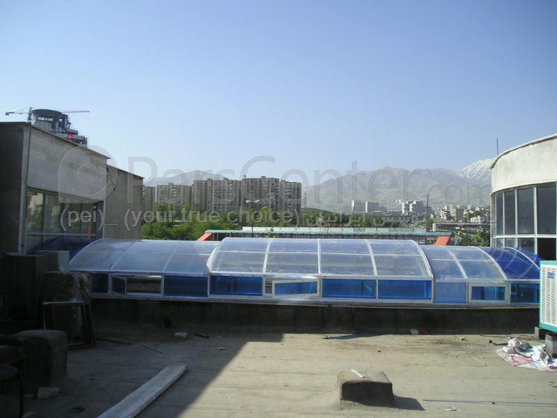 Building skylight _ نورگیر سقف متحرک مسکونی