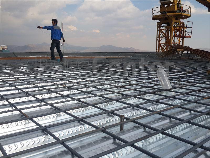 اجرای دستمزدی سقف عرشه فولادی