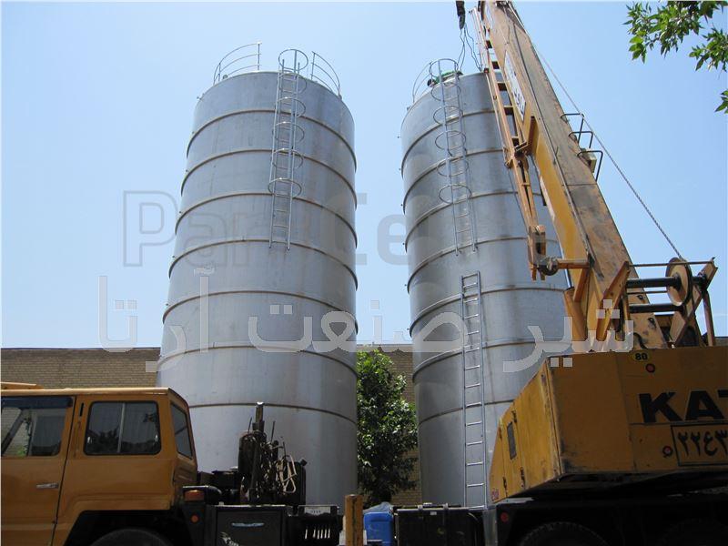 مخزن استنلس استیل ذخیره 100000 لیتری