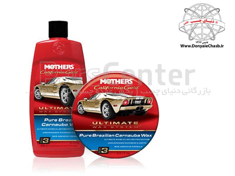 واکس و پولیش کاسه ای کارناوبا  Mothers Car California Gold Brazilian Carnauba Cleaner Wax آمریکا
