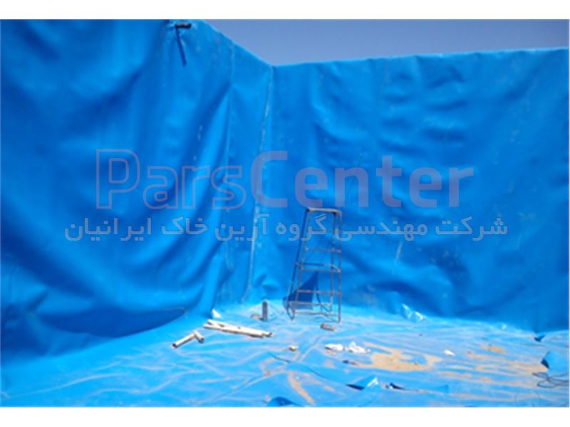 ساخت مخزن ذخیره آب با ورق ژئوممبران شرکت آب و فاضلاب البرز