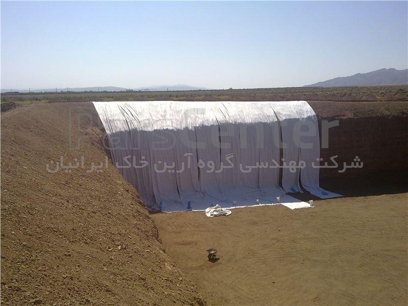 ساخت استخر کشاورزی با ورق ژئوممبران، ساوه روستای صالح آباد