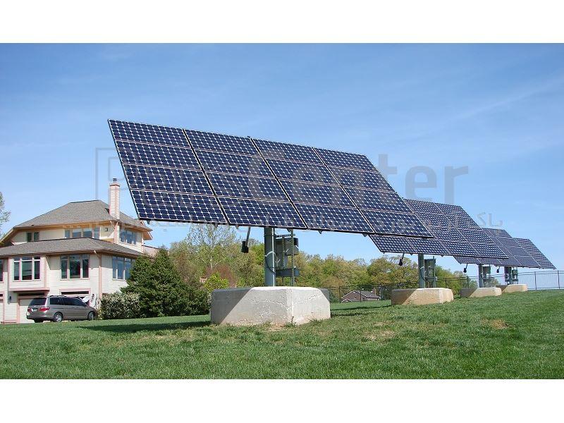استراکچر خورشیدی 4کیلوواتی ترکر تک محوره bn22
