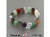 دستبند چند جواهر درشت و عالی سنگ درمانی آرامش بخش _کد:۱۸۳۳۳