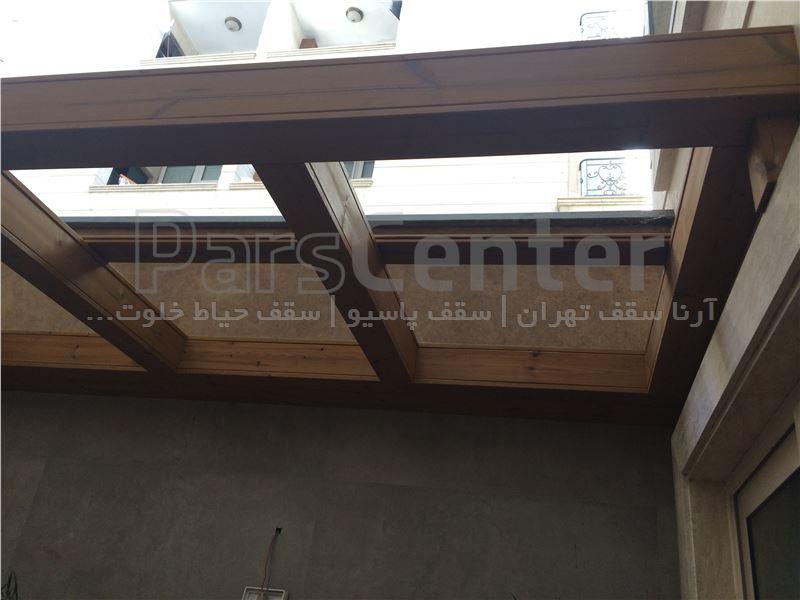 طراحی و اجرای سقف چوبی دکوراتیو (جردن - کوی روانپور)
