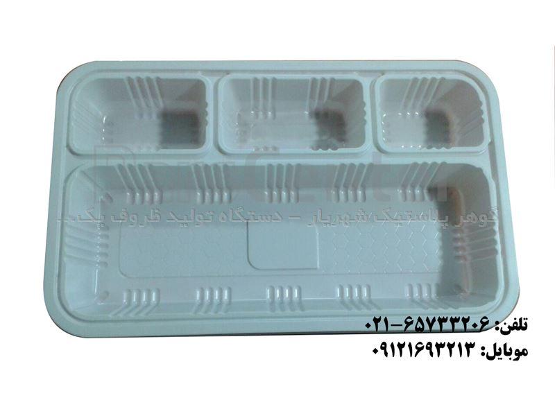 نمونه ظرف غذا برای تهیه قالب