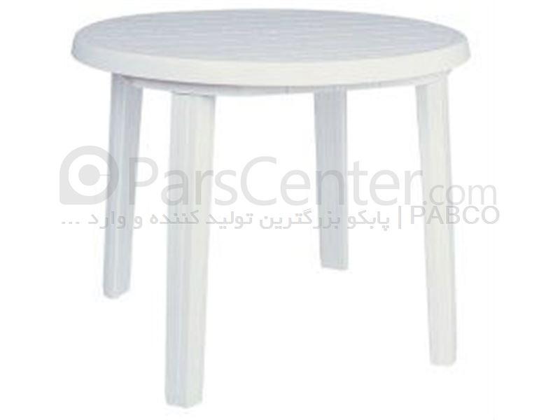 میز پلاستیکی کد 822 . قطر 90 سانت