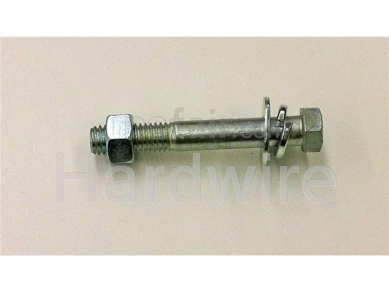 Partially threaded stainless steel bolt and nut 316