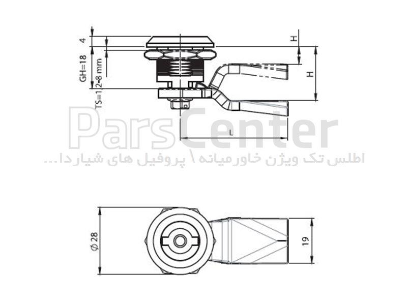قفل تابلو برق ربع گردشی زیمنسی 1820