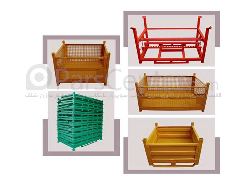 باکس پالت فلزی و پلاستیکی در ابعاد,اشکال و اندازه های مختلف (box palet)