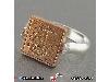 انگشتر نقره چرخشی با حکاکی دعای عین علی و هفت شرف _کد:۱۸۸۲۳