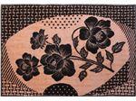 Super mink blanket with flowered design