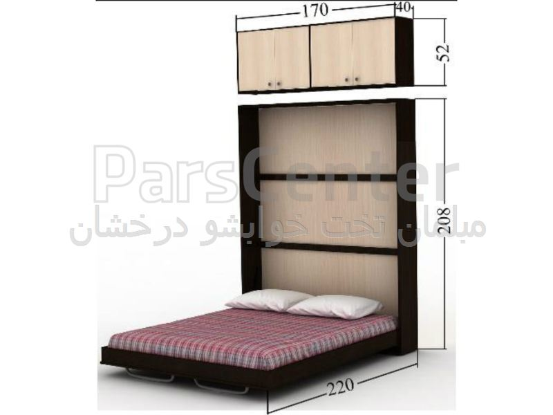 تخت کمجا دیواری دو نفره