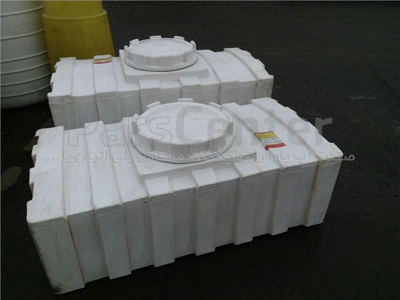 مخزن پلی اتیلن 400 لیتر مکعبی خوابیده سه لایه
