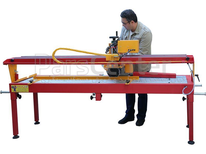 دستگاه سنگبری پرتابل ریلی 2 متری مدل Wolf (ولف) با ورق فولادی 3 میل موتور ایتالیایی