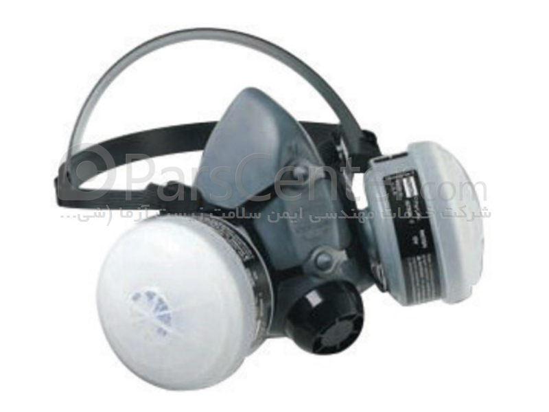 ماسک تنفسی ایمنی نیم صورت شیمیایی رابر 5500 NORTH با قابلیت استفاده مکرر