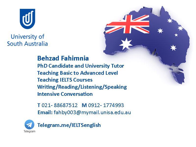 تدریس زبان انگلیسی ایران سیدنی