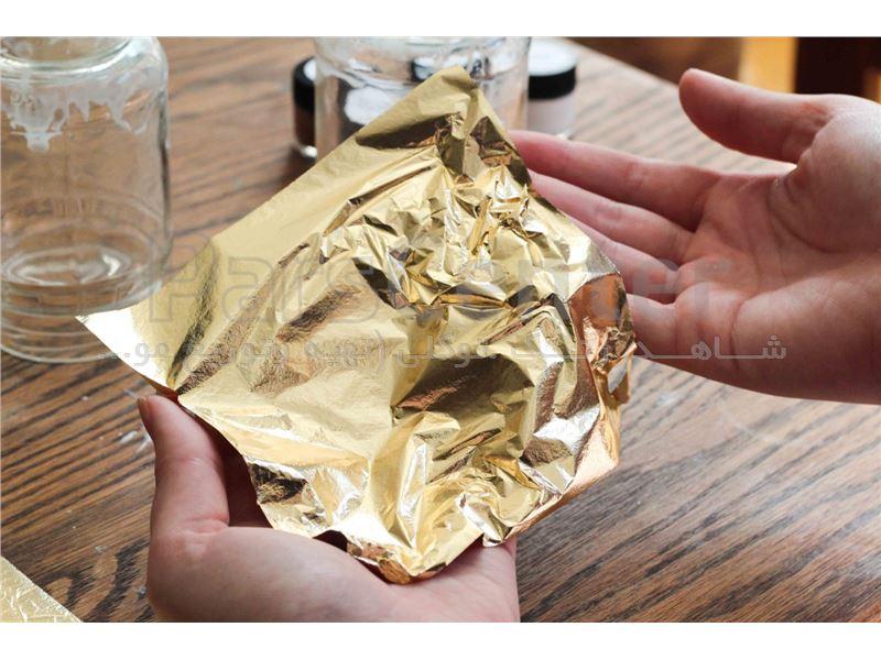ورق طلا خوراکی،جهت استفاده روی کیک و شیرینی