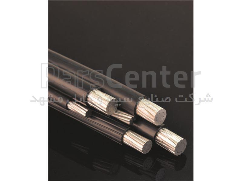 کابل خود نگه دار شش رشته آلومینیوم ,سه فاز یک نول و یک روشنایی و یک مهار