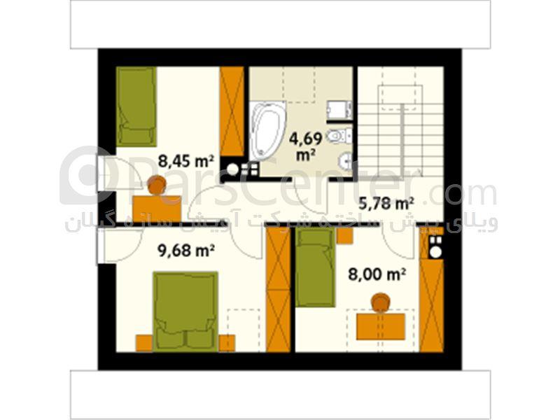 ویلای 87 متر مربعی دوبلکس سه خوابه  -ال اس اف
