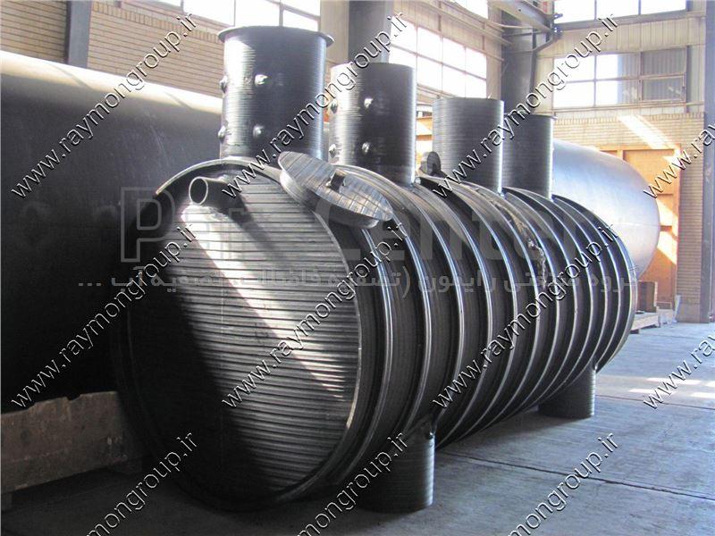 سپتیک تانک پلی اتیلنی دو جداره به ظرفیت 10 مترمکعب