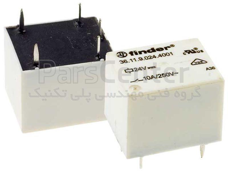 رله پایه میلون 5 پایه سوزنی فیندر مدل  36.11.9.024.0000