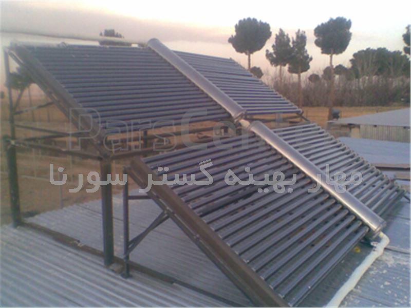 آبگرمکن خورشیدی دو طرف شیشه (پروانه ای)_40 شیشه (وکیوم تپوپ) تحت فشار
