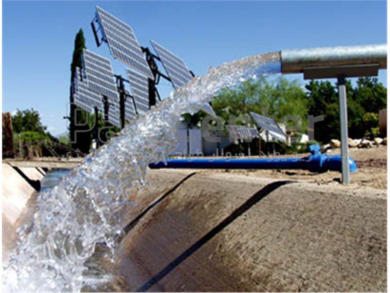 پمپ آب خورشیدی سه فاز(9.2کیلووات 12.5اسب بخار) 2/5اینچ 141متر عمق آبدهی 8متر مکعب درساعت(همراه پنل)