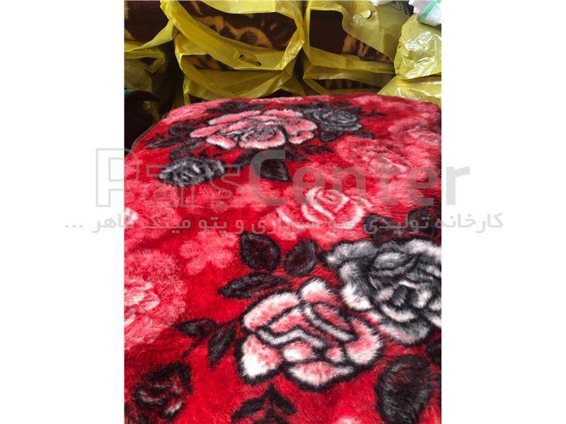 پتو مینک تابان قرمز رنگ یکتا (طاهربافت)