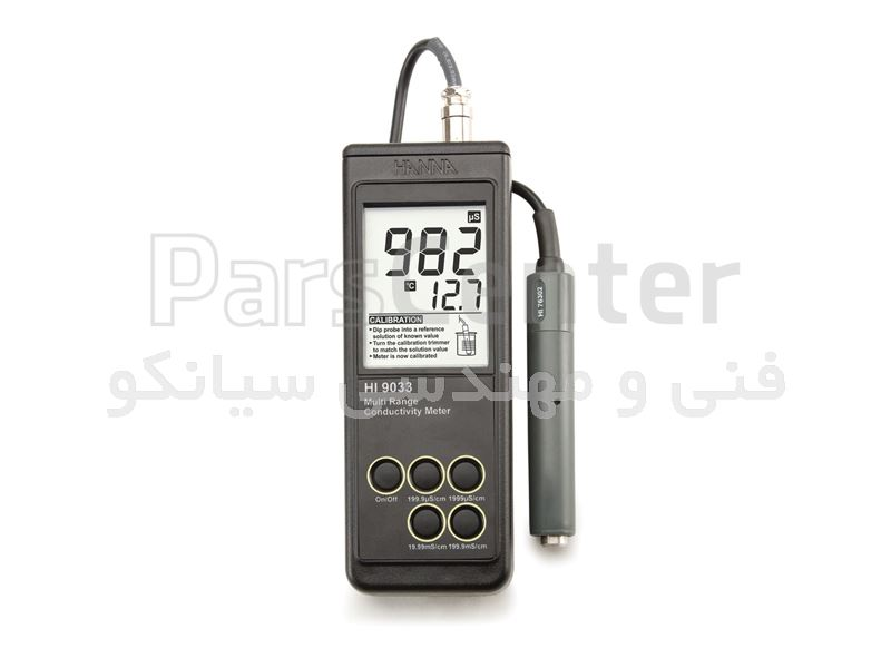 EC متر ، هدایت سنج پرتابل هانا امریکا با قیمت مناسب مدل HANNA HI9033