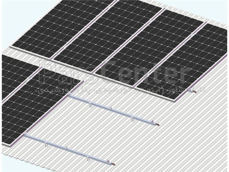 استراکچر پنل خورشیدی سقف شیبدار