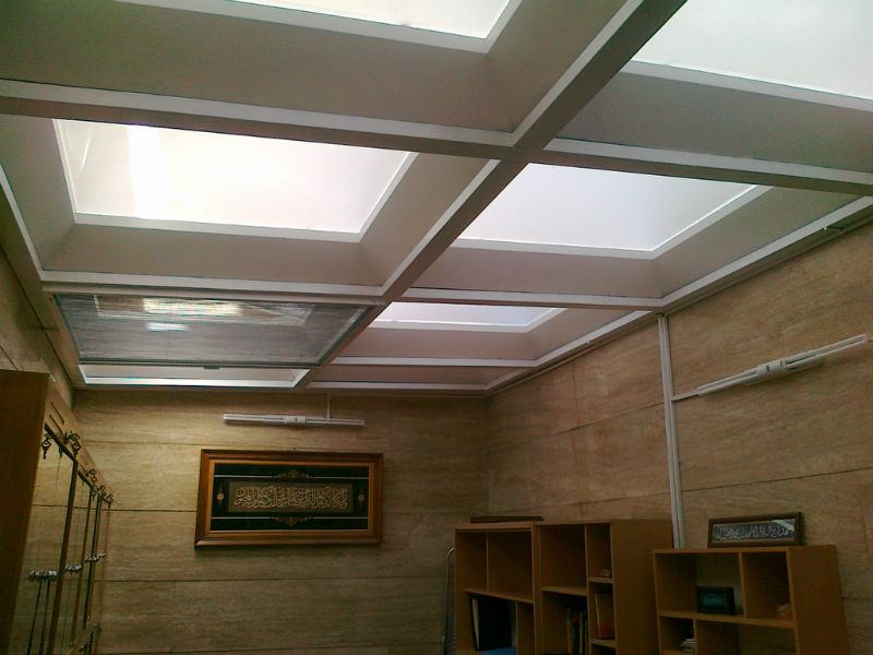 آرنا سقف تهران | سقف پاسیو | سقف حیاط خلوت | سقف حبابی | سقف نورگیر