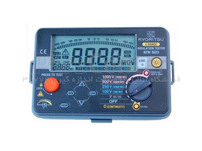 تست مقاومت عایق دیجیتال کیوریتسو مدل KYORITSU 3023