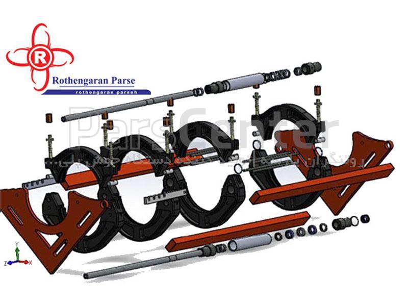 دستگاه جوش هیدرولیک پلی اتیلن سایز 630روتنگران