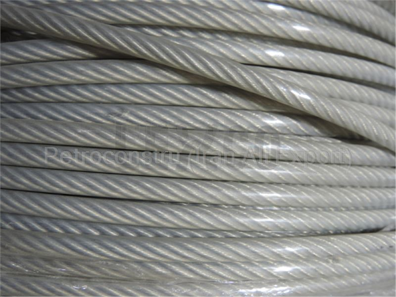 Transparent coated wire rope
