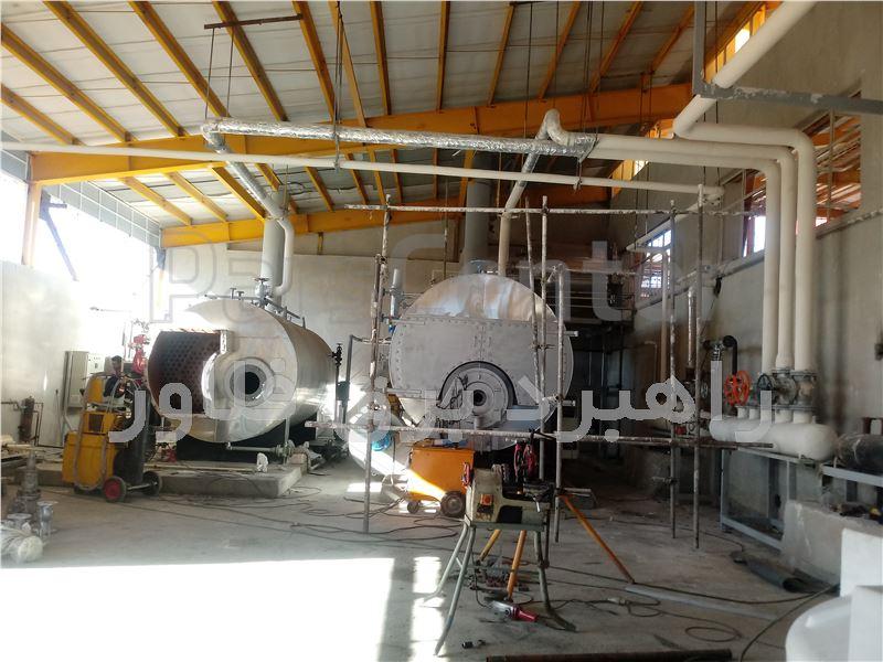 طراحی و اجرای پایپینگ خطوط بخار و روغن داغ