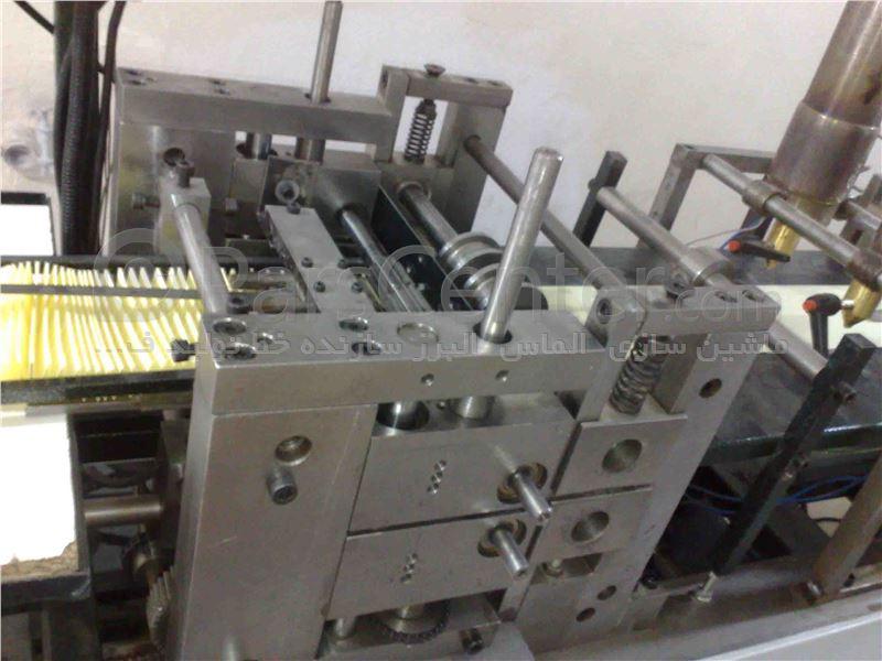 دستگاه چین کن  کاغذ فیلتر هوا با چسب اتوماتیک