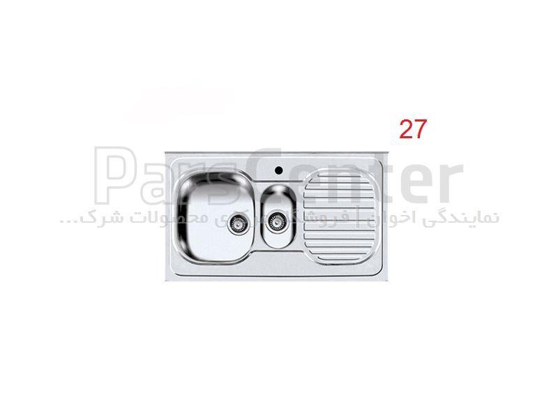 سینک ظرفشویی روکار اخوان فانتزی دو لگن مدل 27