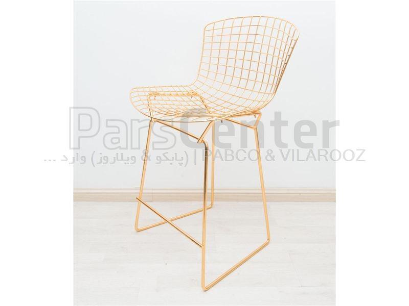 صندلی اپن فلزی برتویا با ابکاری طلایی (کوگار ترکیه)