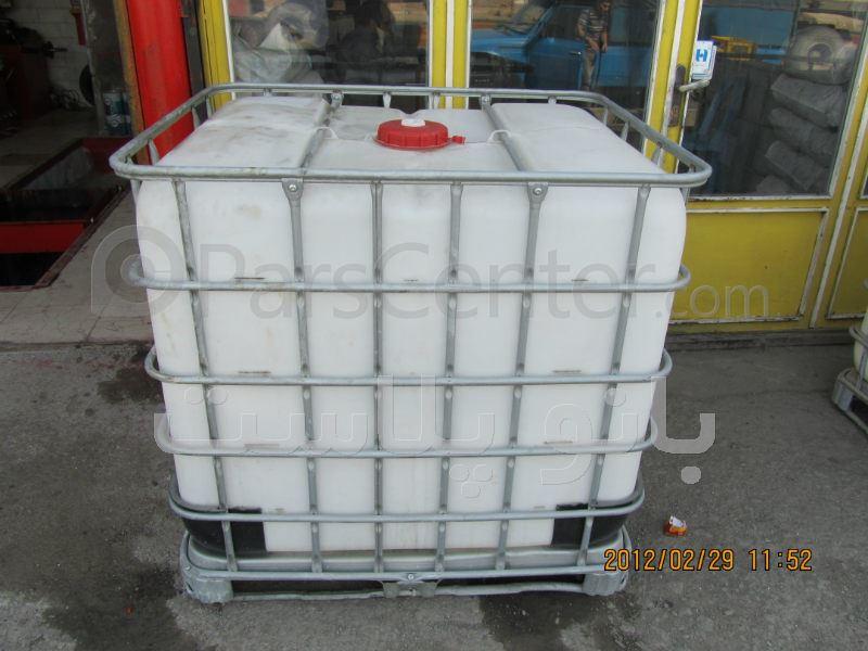 مخزن پلاستیکی 1000 لیتری جهت ذخیره آب آشامیدنی IBC